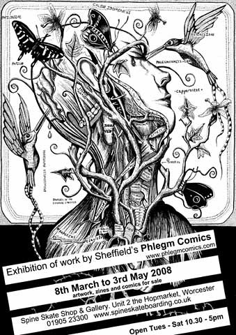 Phlegm Comics Exhibition Poster