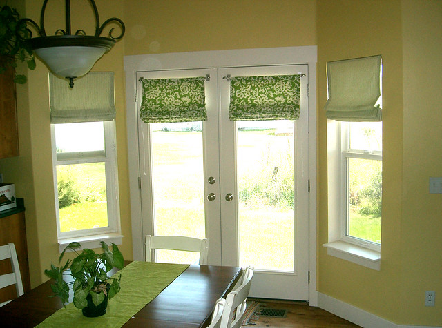 Bay windows roman shades flickr photo sharing for Roman shades for bay window