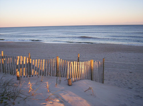 ocean sunset northcarolina dunefence 10millionphotos