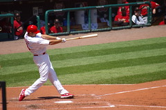 Troy Glaus Hits a Sacrifice Fly to Left