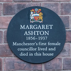 Photo of Margaret Ashton black plaque