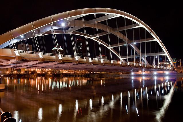 Douglass-Anthony Bridge at Night