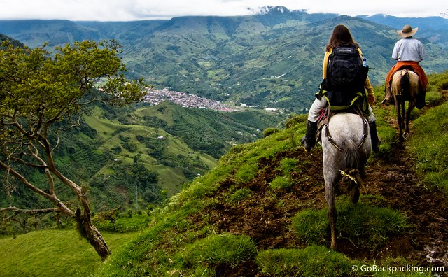 Horseback riding in the mountains above Jardin, Colombia.