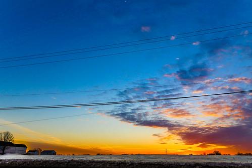 winter sunset snow march unitedstates pennsylvania morrisville yardley