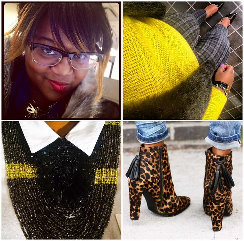 Instagram+photos+fashion+blogger+bangs+yellow+mustard+sweater+leopard+boots