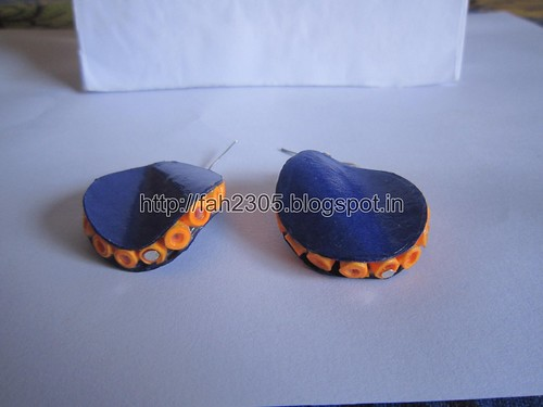 Free Form Quilling - Twisted Disk Quilling Earrings (FAH01892) (3) by fah2305