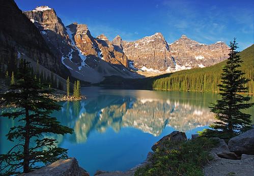 park mountain lake sunrise bravo banff moraine mywinners anawesomeshot diamondclassphotographer flickrdiamond theunforgettablepictures