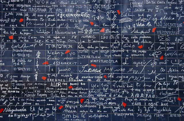 "Le mur des ""Je t'aime"". Paris. France"