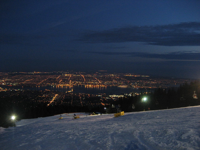 The Lights of Vancouver from Grouse Mountain