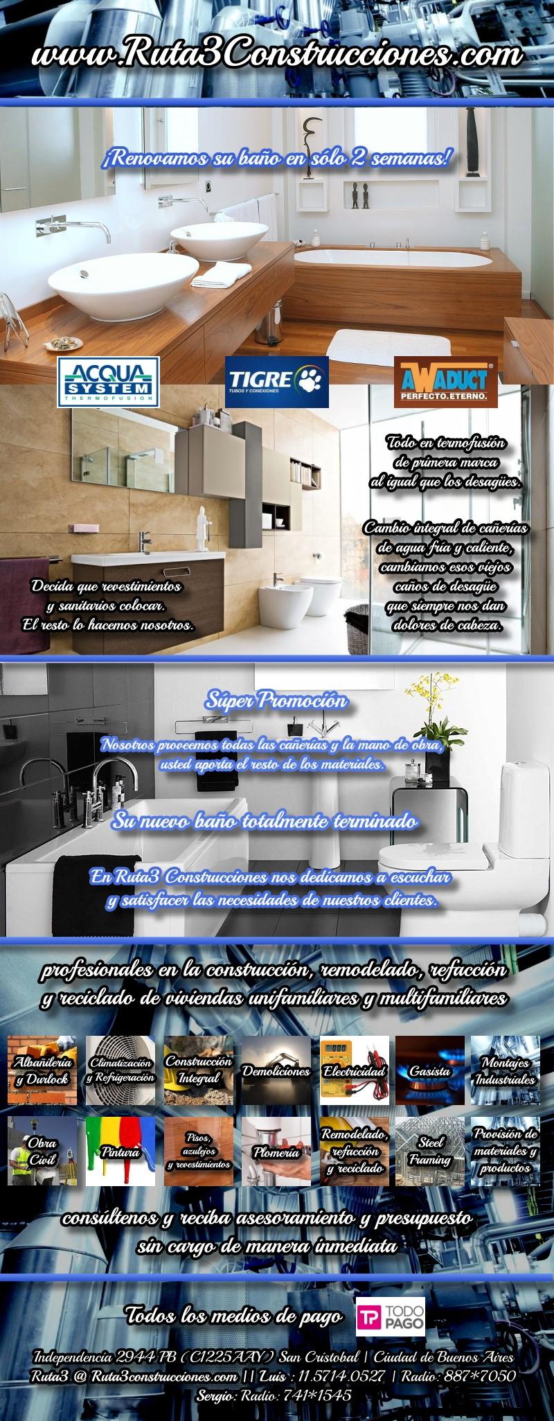 remodelacion refaccion renovacion de baños