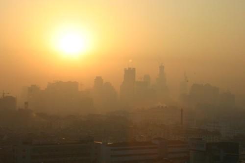 china sunrise geotagged smog nanjing iansand geo:lat=32047615 geo:lon=118772781