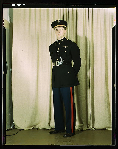 Marine Corps Captain in dress blue uniform, W[orld] W[ar] II  (LOC)