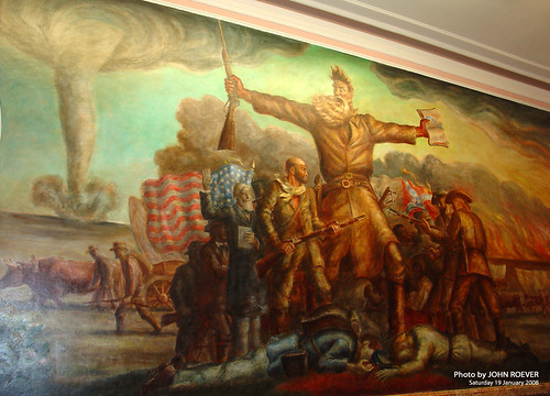 building painting mural historic civilwar kansas topeka statecapitol 1000views freestate johnbrown abolitionist nationalregisterofhistoricplaces shawneecounty bleedingkansas johnstuartcurry tragicprelude