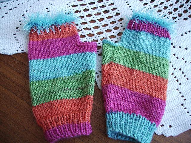 Knitted gloves without fingers Flickr - Photo Sharing!