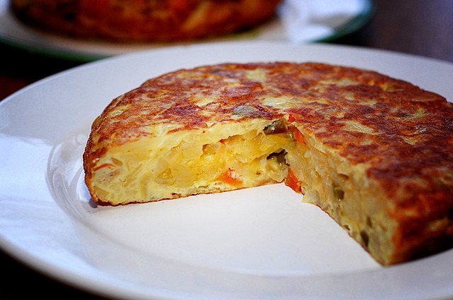 Tortilla Española. Spanish Omelette traditional spanish dishes
