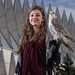 U.S. Air Force Academy Cadet 1st Class Jensen Caster, academy falconry team, and Ziva, a gyr-saker falcon, have been together for three years at the academy. The Academy's falcons perform for 500,000 to 600,000 people each year at sporting events and educational demonstrations nationwide. The first Academy class selected the falcon as its mascot in 1955. (Photo courtesy USAFA)