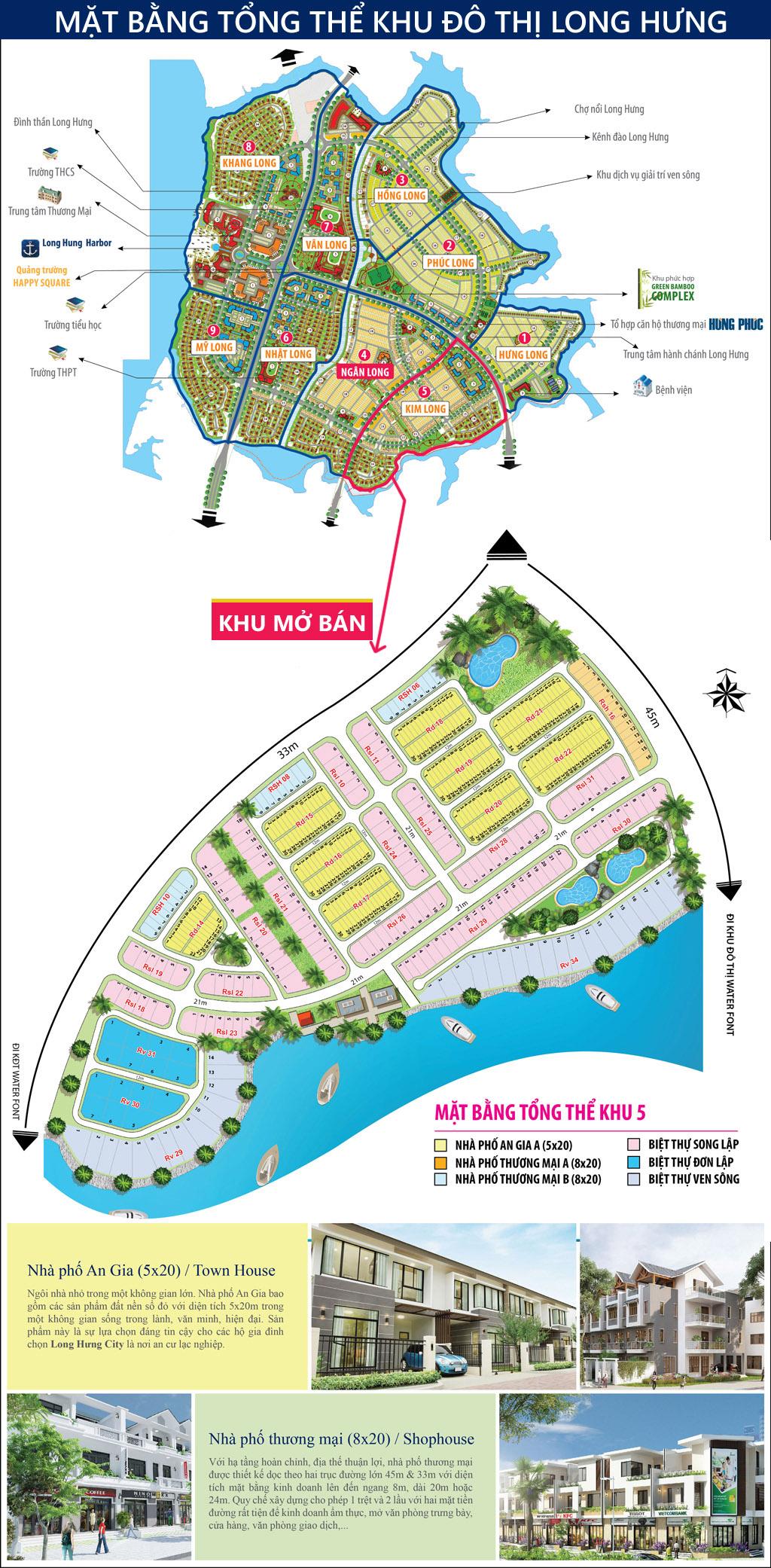 Mặt bằng dự án Khu đô thị Long Hưng, Biên Hòa - Khu Kim Long - mở bán đất nền.