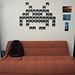 Space Invaders wall decoration made out of floppy disks