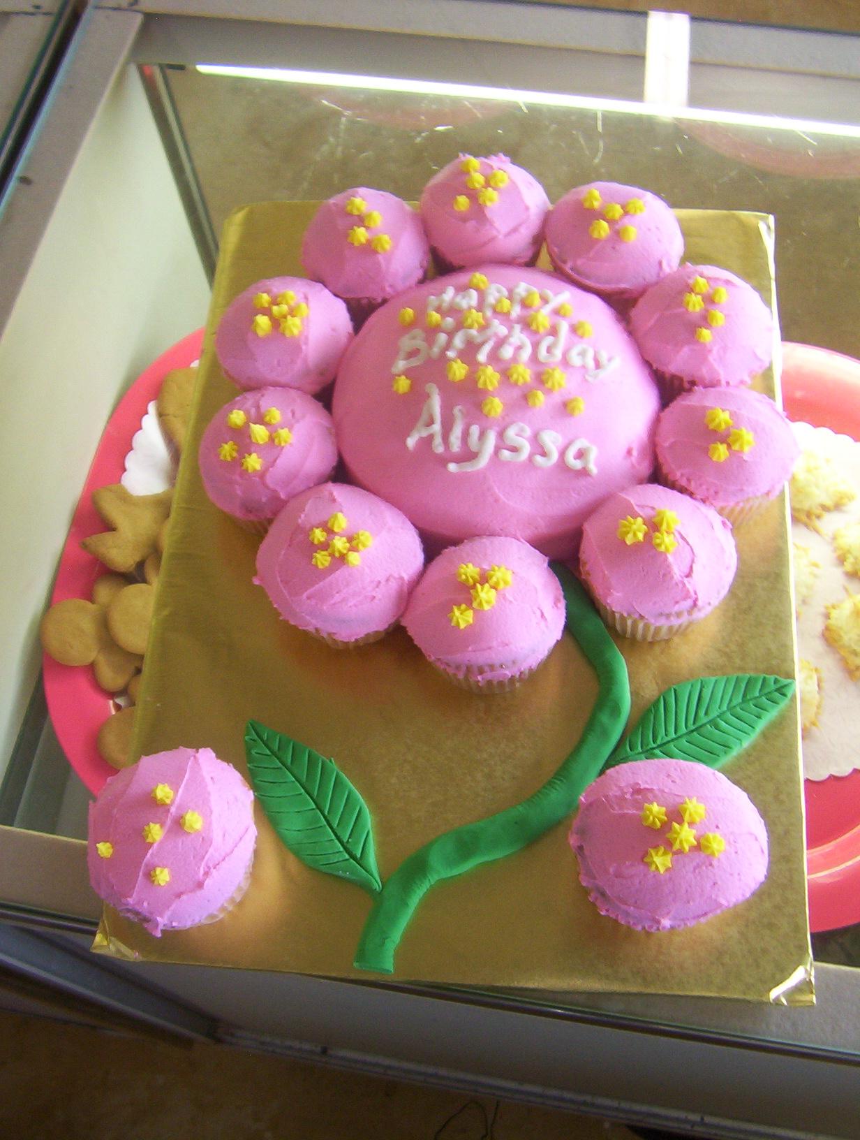 Pink Flower Birthday Cake  Flickr - Photo Sharing!