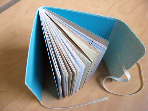 Paper Book Cover Tutorial : Wrap around cover mixed paper book tutorial
