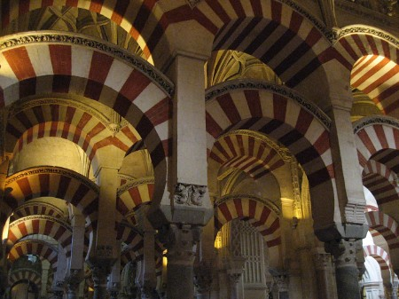 Cordoba Cathedral Arches - Detail