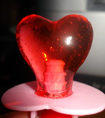 heart, red, macro photography, glass,