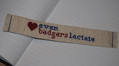 Even badgers lactate bookmark