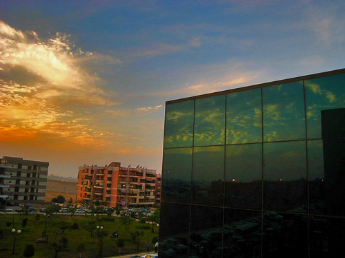 city sunset reflection glass clouds reflections grid photography town flickr egypt sheraton ciro aast heliopoolis andrewashenouda