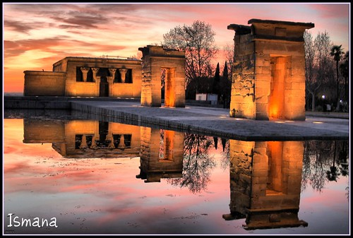 madrid sunset españa sun reflection sol canon landscape lafotodelasemana atardecer temple ana spain agua bravo bonito paisaje colores enero loveit 500v50f cielo reflejo magical hdr templo pictureperfect debod scc templodedebod goldenglobe atardece abigfave anawesomeshot aplusphoto diamondclassphotographer megashot platinumheartaward artlegacy ismana veoloqueotrosnoven llovemypic lfs012008 lmngt retocolores retofotografico retofotografico1000 dragonsdanger amigsgcs