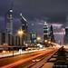 Sheikh Zayed Road at Night. by elvis_payne