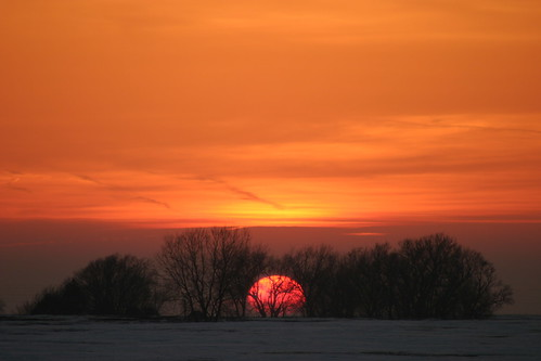 trees sunset sky orange sun snow clouds march horizon iowa markevans supershot ysplix chimothy27