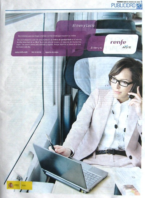 Campaña publicitaria del 2008 tren AVE.