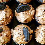 Vegan Chocolate Peanut Butter Oreo Cupcakes
