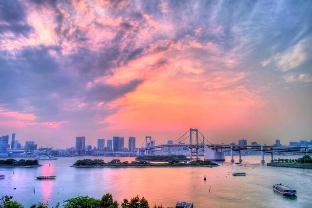 Sunset @ Rainbow Bridge (HDR)