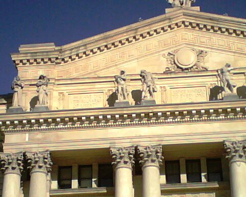 Essex County historic courthouse detail