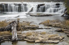 The waterfalls in downtown Almonte, Ontario.