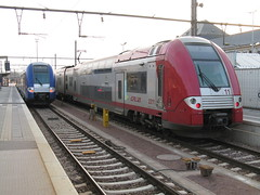 CFL Class 2200 EMU no. 2211 and SNCF Class Z 24500 TER2N NG EMU no. 363, Luxembourg
