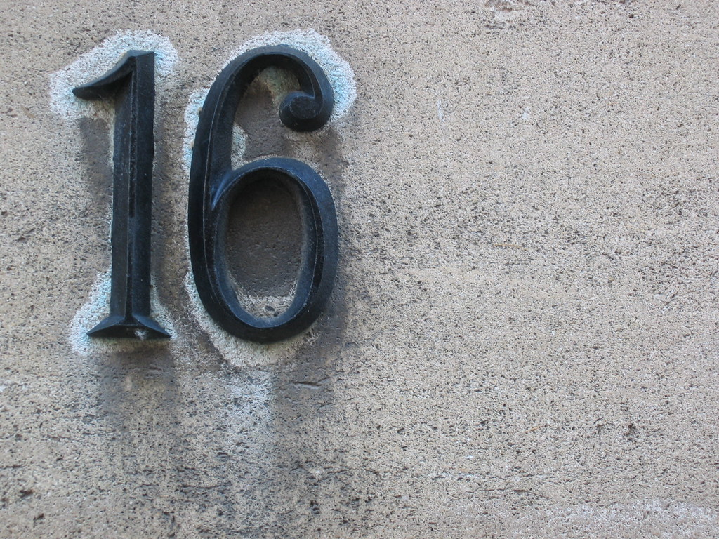 superb number 16 house #1: House Number 16
