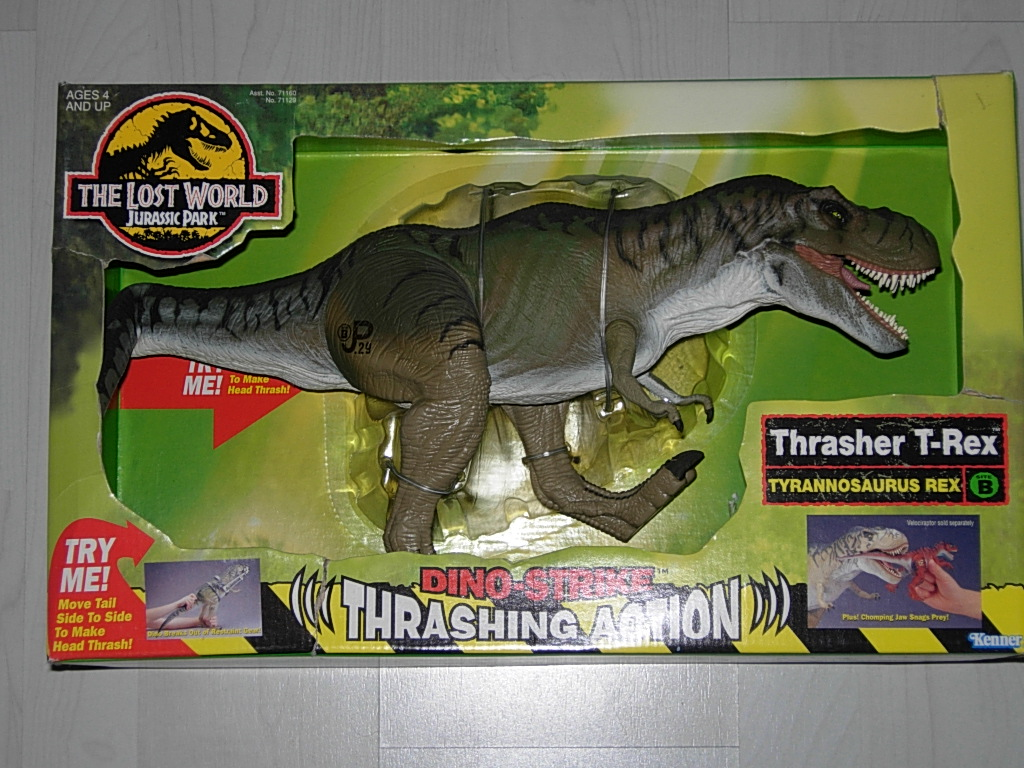 Jurassic Park Toys T Rex : The lost world jurassic park thrasher t rex toy a