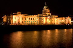 Dublin Custom house on the north bank of the River Liffey.