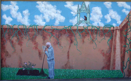 Man in the watchtower full mural