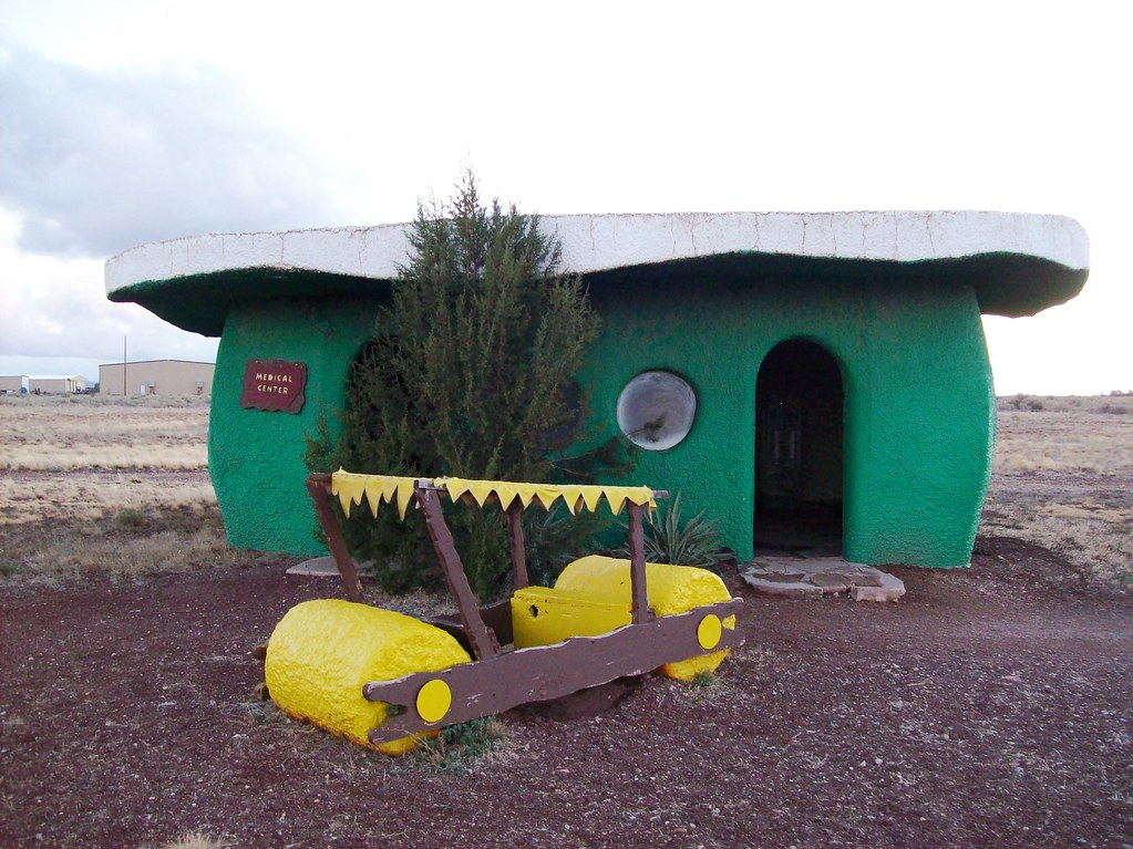 Outside the doctor's office at Bedrock City, AZ - bedrock38x