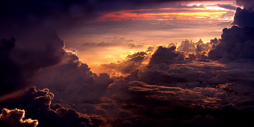above blue light sunset red sky orange cloud white window up yellow plane catchycolors airplane high soft heaven paradise horizon malaysia gateway theperfectphotographer