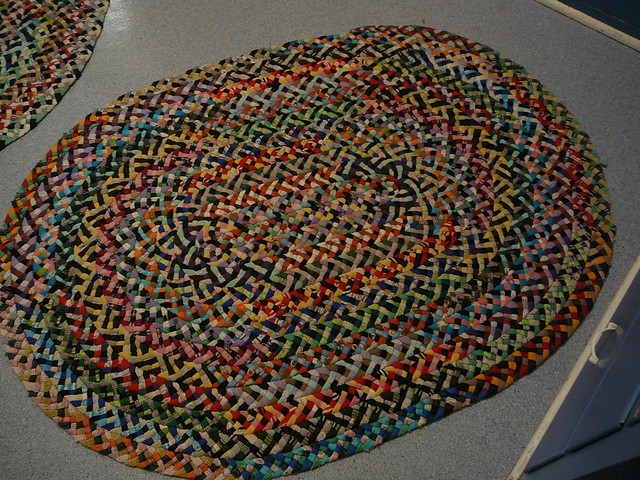 how to make braided throw rugs