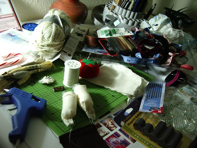 huge craft mess