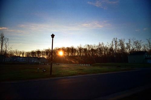 sky film sunrise 35mm outside carolina kodakmax400 2007 expiredfilm vivitarultrawideandslim fridayshoots file:name=20071214vivitaruwsb07adjustedjpg