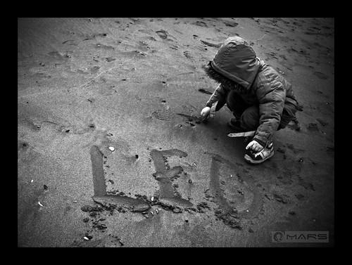 I wrote your name on the sand