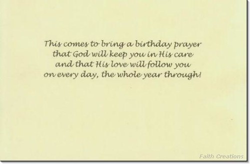 Christian Birthday Greeting Card Inside
