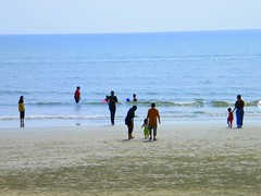 enjoy the sand + water + sun