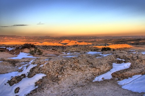sunset sky snow newmexico published desert sunsets wilderness nowpublic ojito ojitowilderness